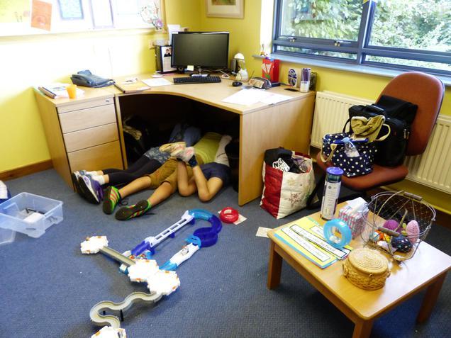 Children were busy too!