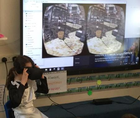 Parent created a virtual reality environment of a street during the Great Fire of London