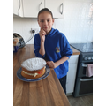 Amelia also made a delicious victoria sandwich