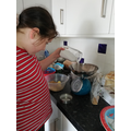 Catherine making cookies for her book menu