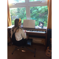 A Zoom piano lesson!