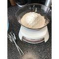 Next measure our your flour.