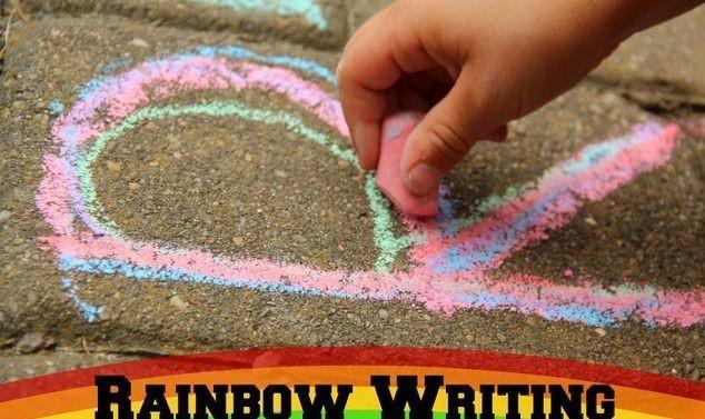 chalk letters/ rainbow letters