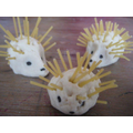Try making spaghetti hedgehogs.