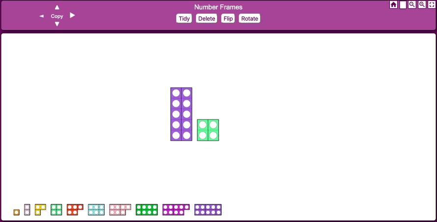 Number Frames (like Numicon)