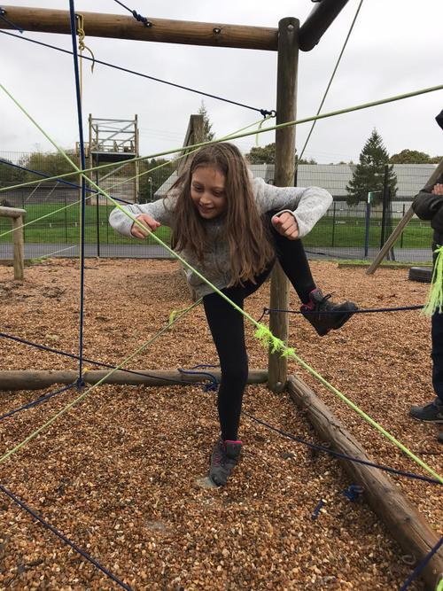 Ingenuity and teamwork on the challenge course!