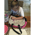 A fashion designer in the making!