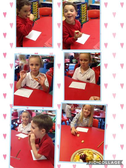Tasting fruits from 'The Very Hungry Caterpillar'