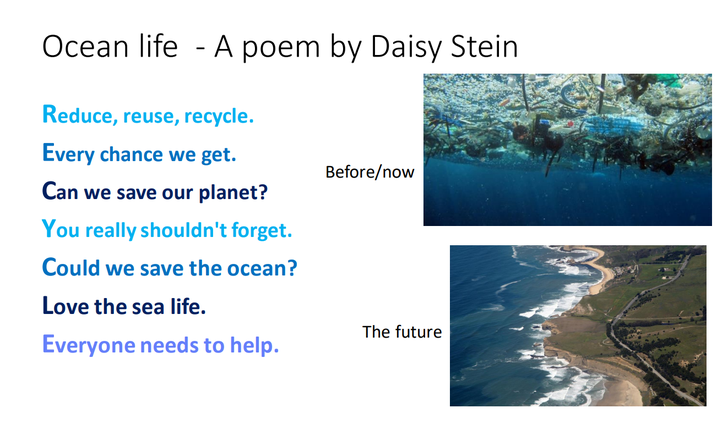 Daisy has written this amazing poem about ocean plastic