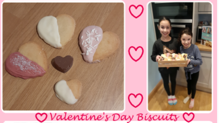 How beautiful are these Valentines biscuits!