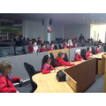 We sat in the debating chamber - it was great!