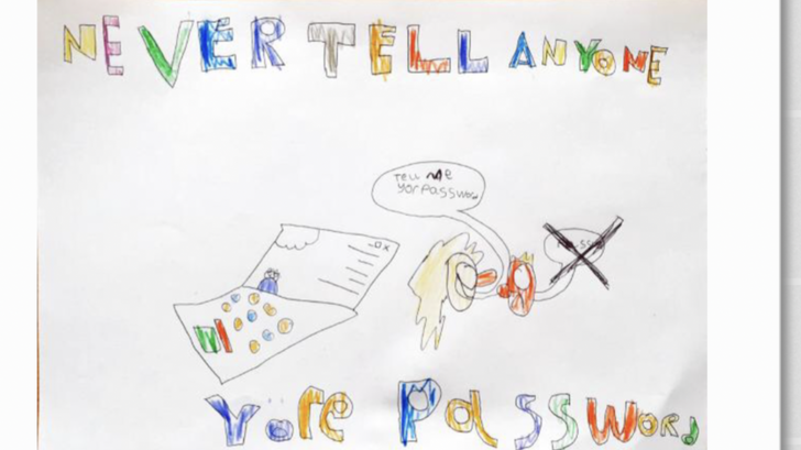 A super internet safety poster by Charlie