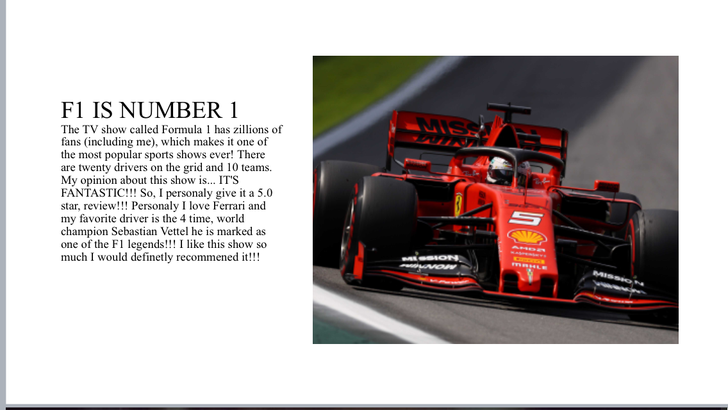 Ollie has lots of wonderful reasons for watching and enjoying F1