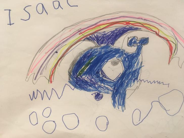 An amazing Whale drawing by Isaac the artist!