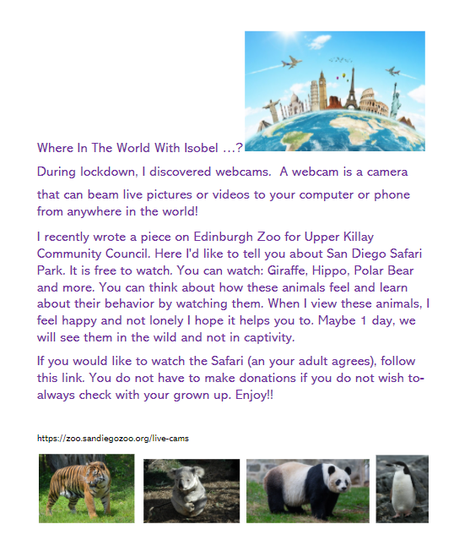 Isobel has written an excellent article on live zoo cameras!