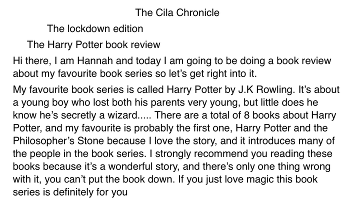 A 5 star book review by Hannah 🌟