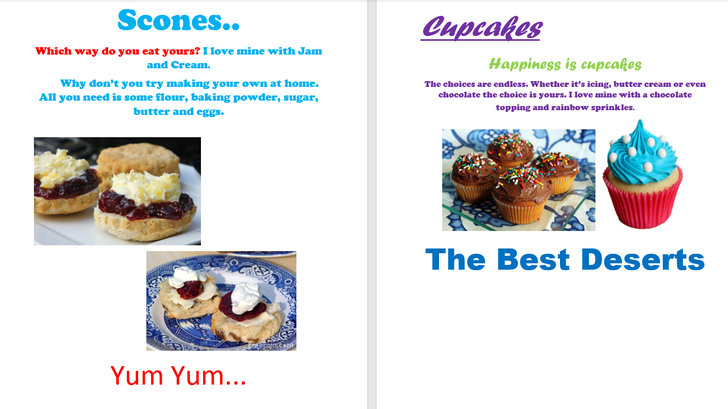 Fantastic adverts for both types of cake - well done!
