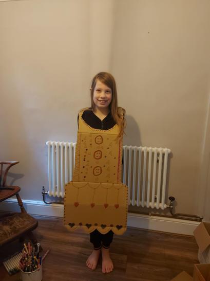 A beautiful cardboard dress creation!