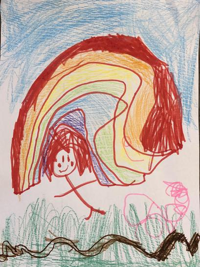 A beautiful picture by Ivy. We have an artist in the making!