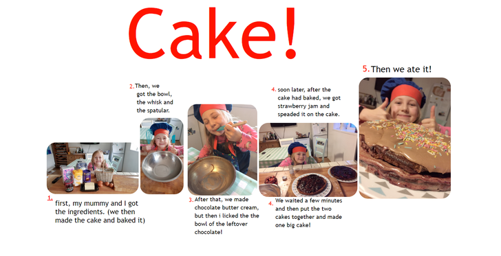 The steps to a deliciously chocolatey cake!