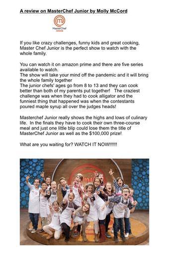 Read Molly's wonderful review of Masterchef Junior