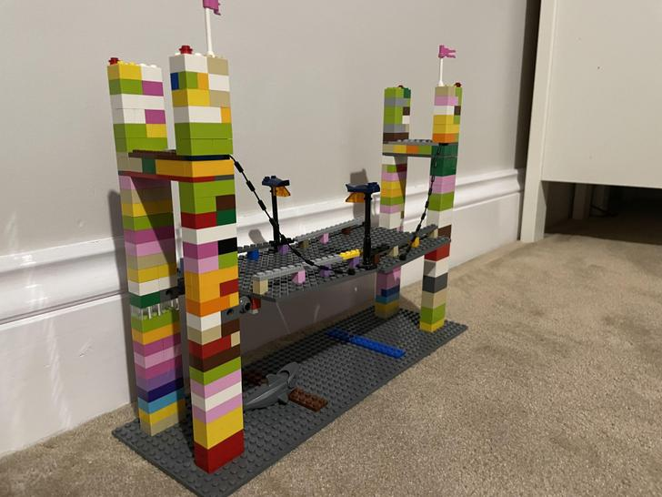 Look at this incredible bridge Thomas has built!