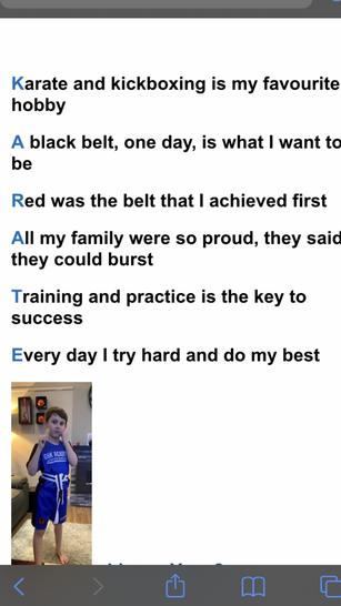 A wonderful karate poem
