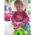 Making Play dough letters