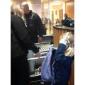 We had to go through a security check