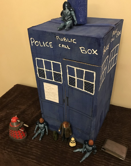 Mya added some extra details to a Tardis gifted to her in the Summer - wow!