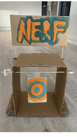 Joe has made this awesome NERF target!