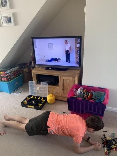 Jiu Jitsu training - the plank!