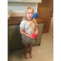 Esme practised her juggling skills