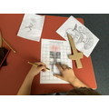 We designed our own Roman mosaics.