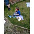 Matty having a yummy picnic!
