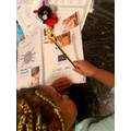 Destiny completing her home learning activities.