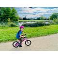 Sienna on her bike.