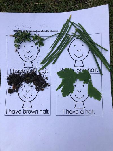 Sienna made a fantastic picture using herbs!