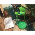 Destiny found and wrote down all the green objects