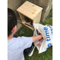 Louis' finished bug house -  well done