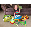 Sienna and her green objects!