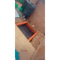Leo's new sandpit