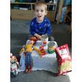 Callum made his own shop!