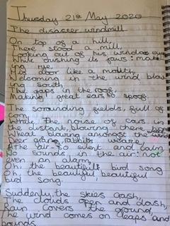 Freya B's poem about a windmill