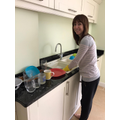 Mrs McKillop busy at home.