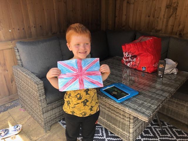 Freddie made a brilliant flag!