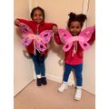 Lovely butterflies girls
