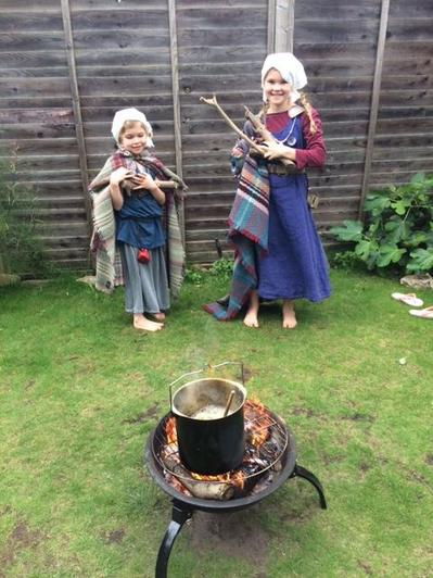Cooking the Viking meal