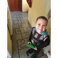 Tobias and his fab hopscotch!