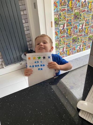 Harry got lots of stars!